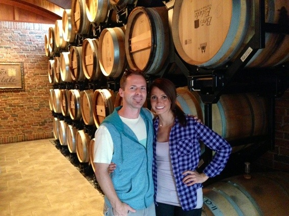 scott and i at wineries