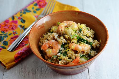 shrimp and artichoke barley risotto