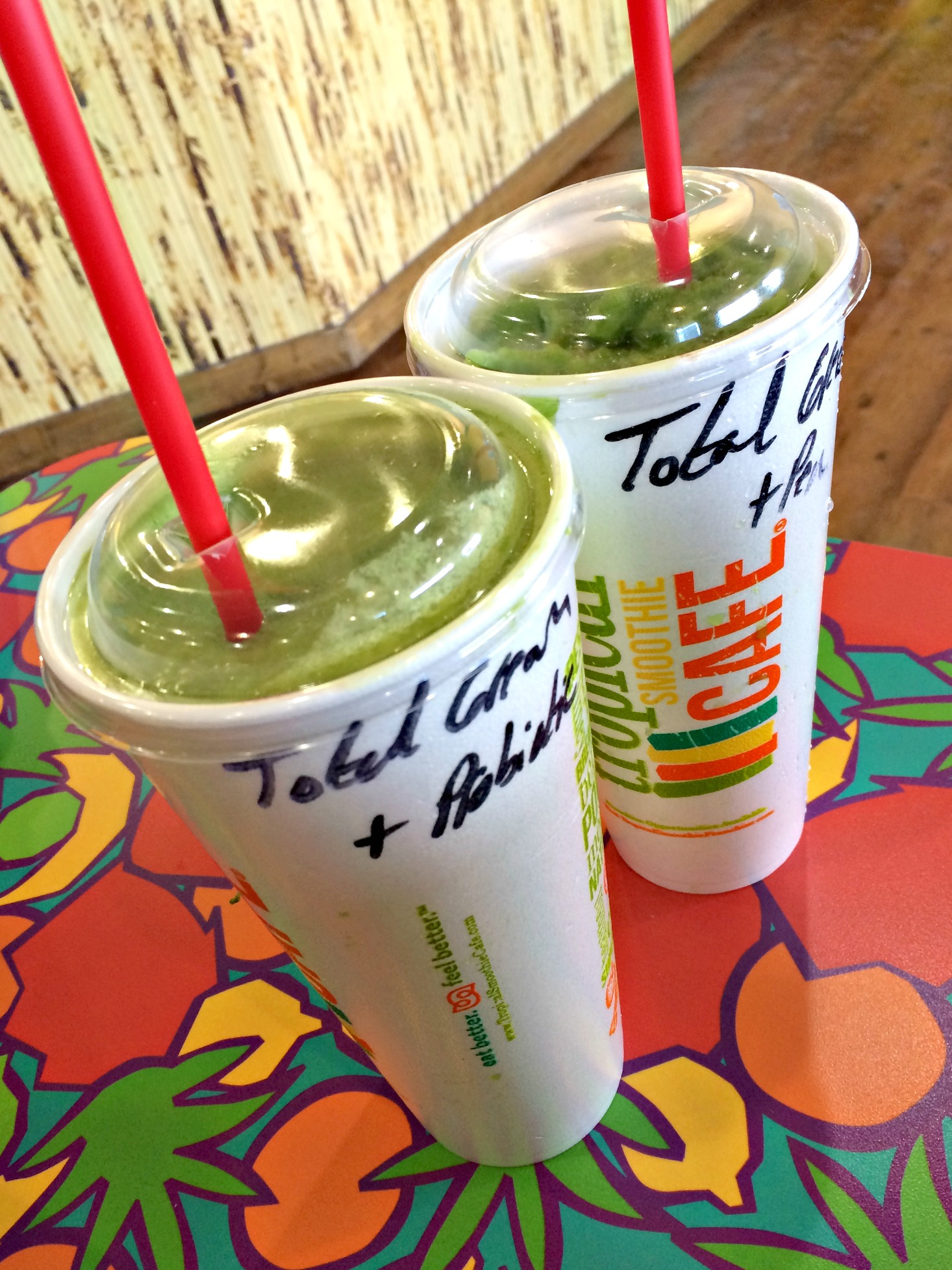 total green smoothie tropical smoothie