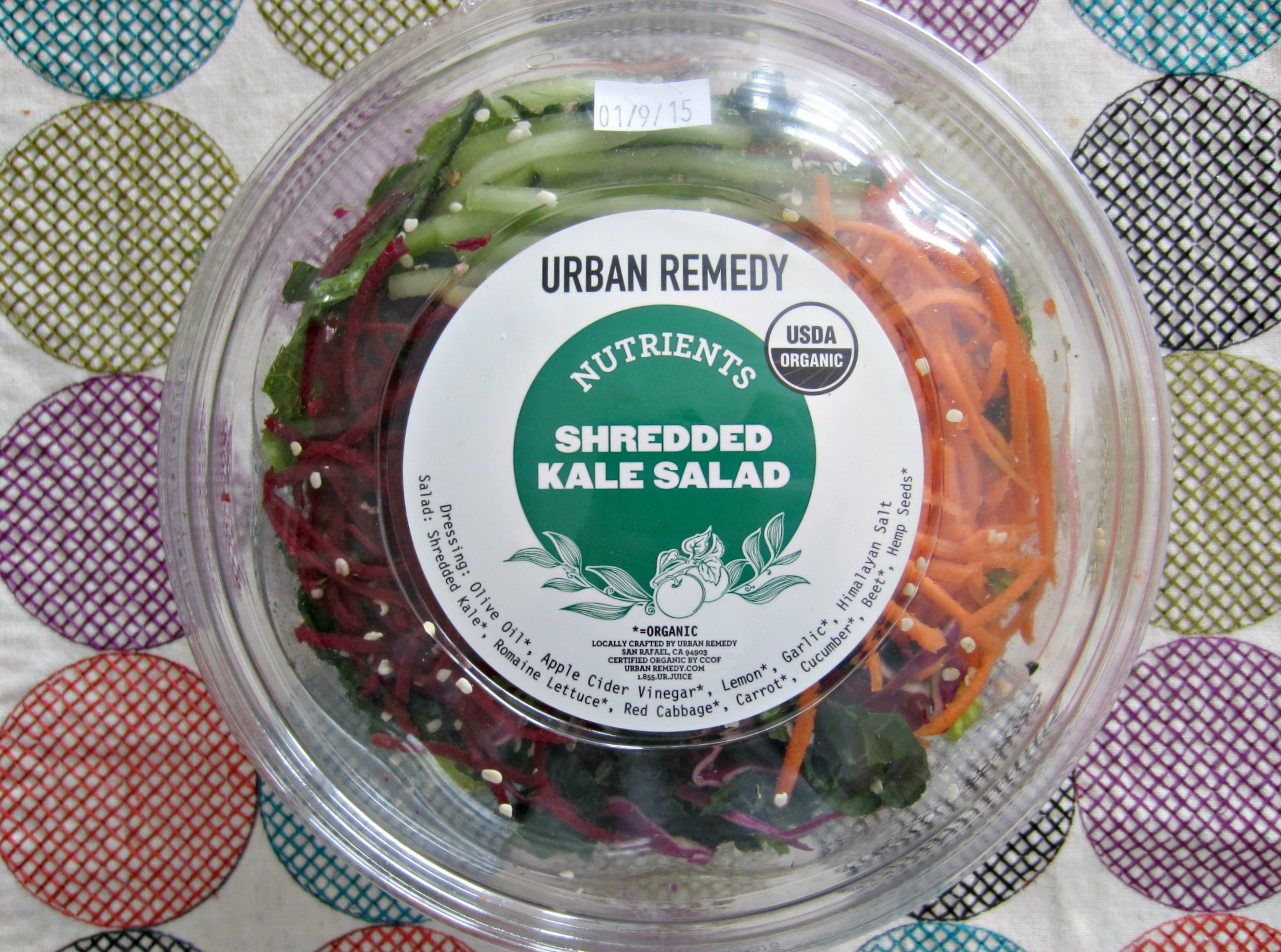 urban remedy shredded kale salad