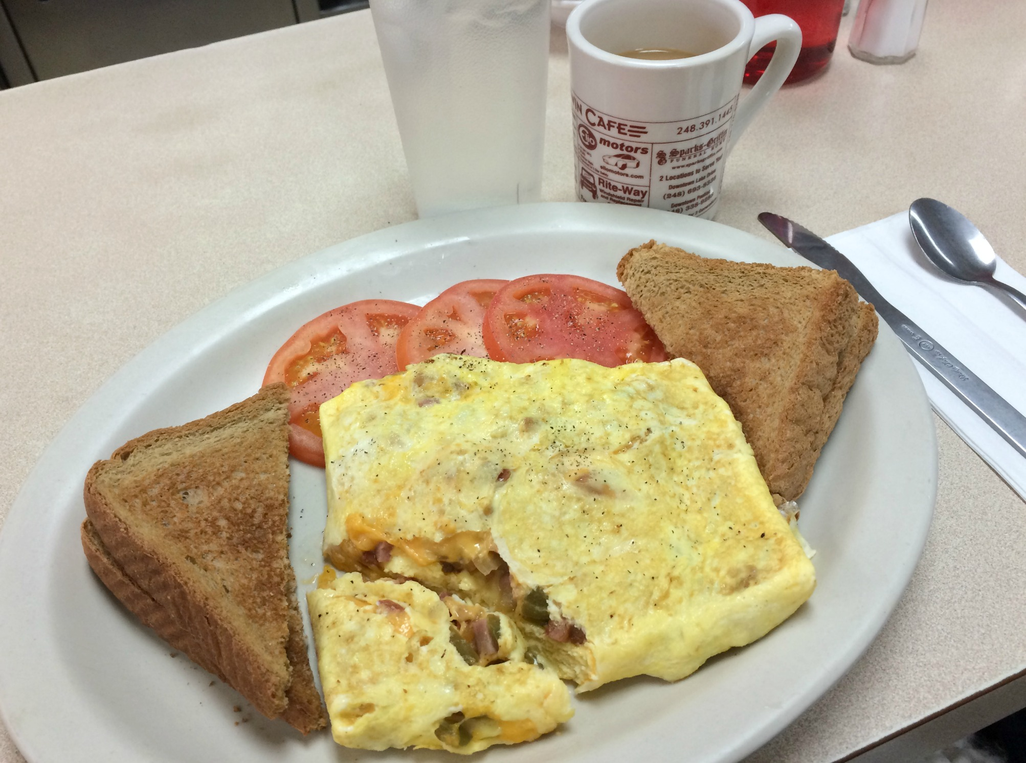 western omelet breakfast baldwin cafe