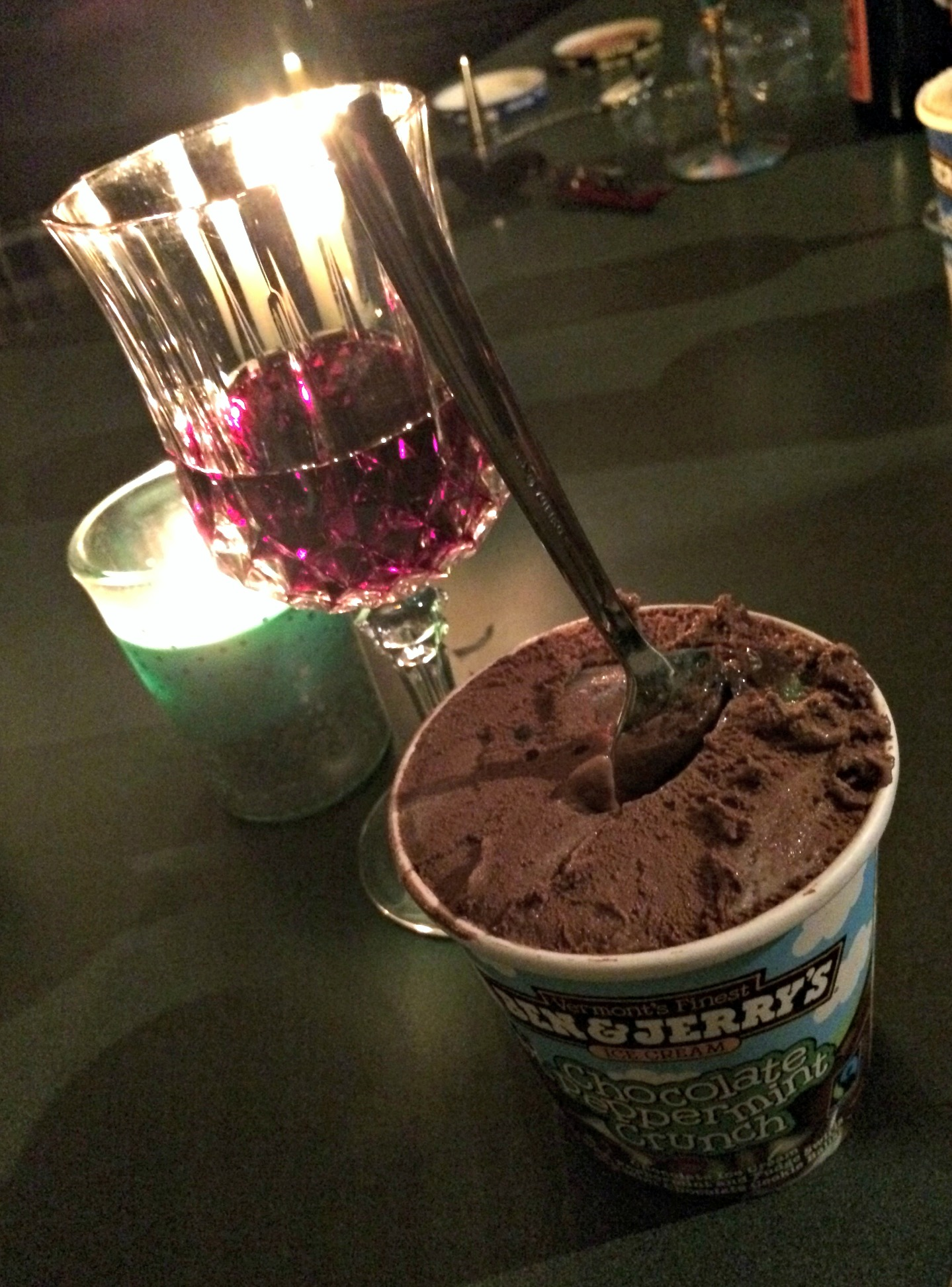 wine and ice cream new years eve