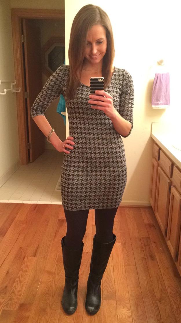 winter fashion dress and boots