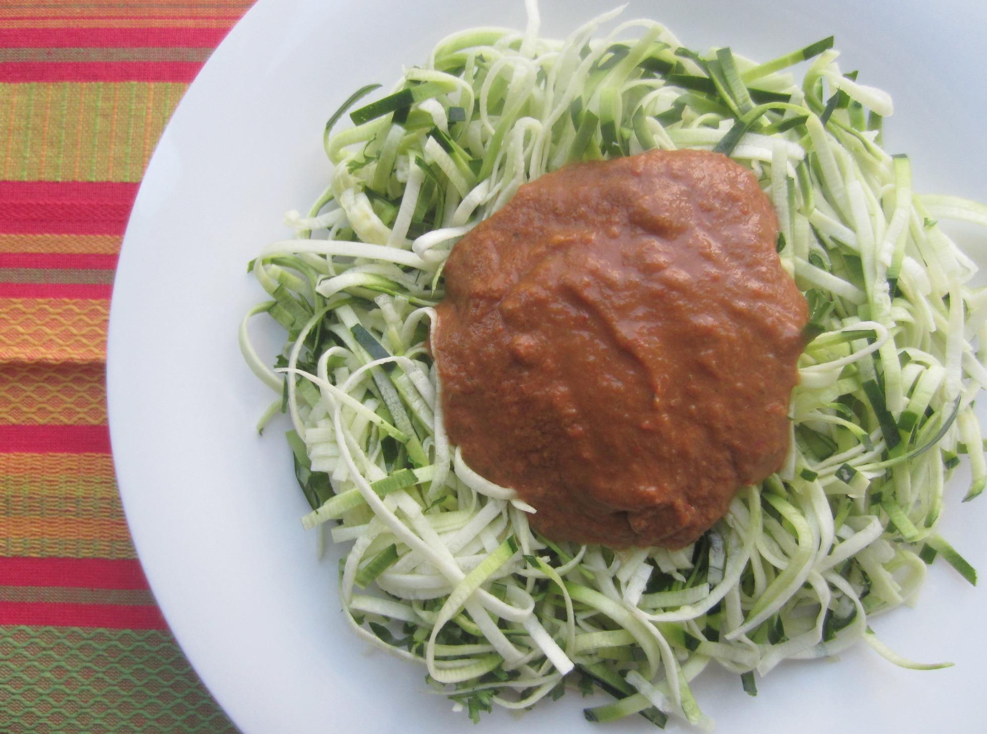 zucchini fettucini marinara