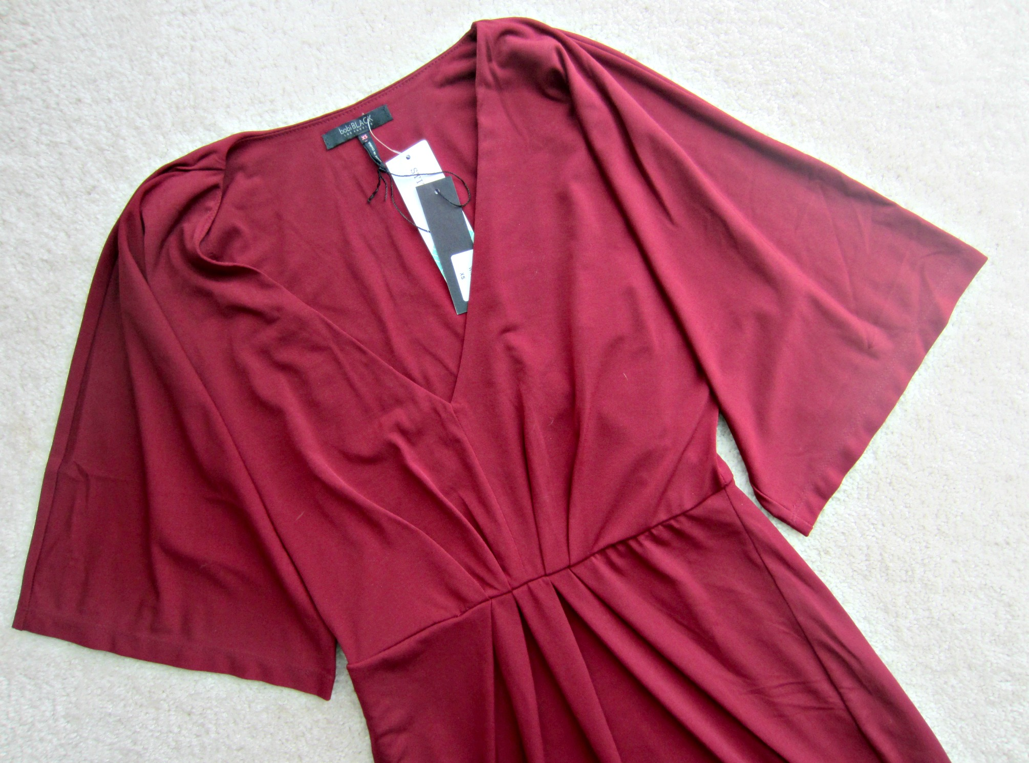 stitch fix red dress close up