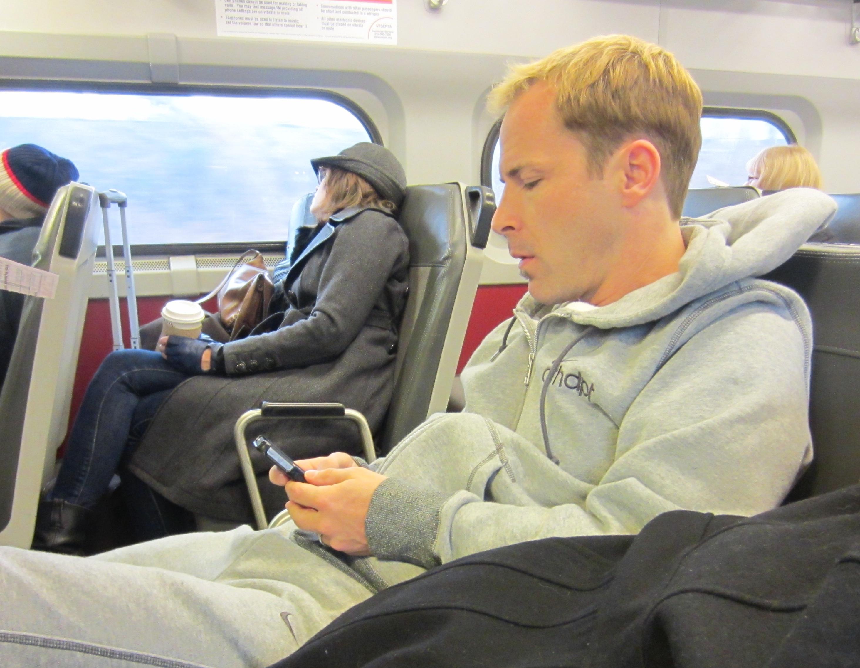 Philly Scott on Train