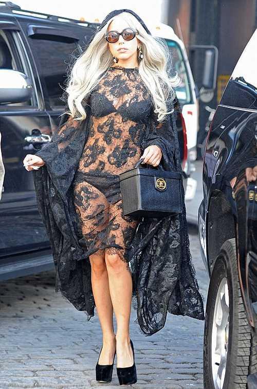 Lady Gaga in Sheer Lace - NO