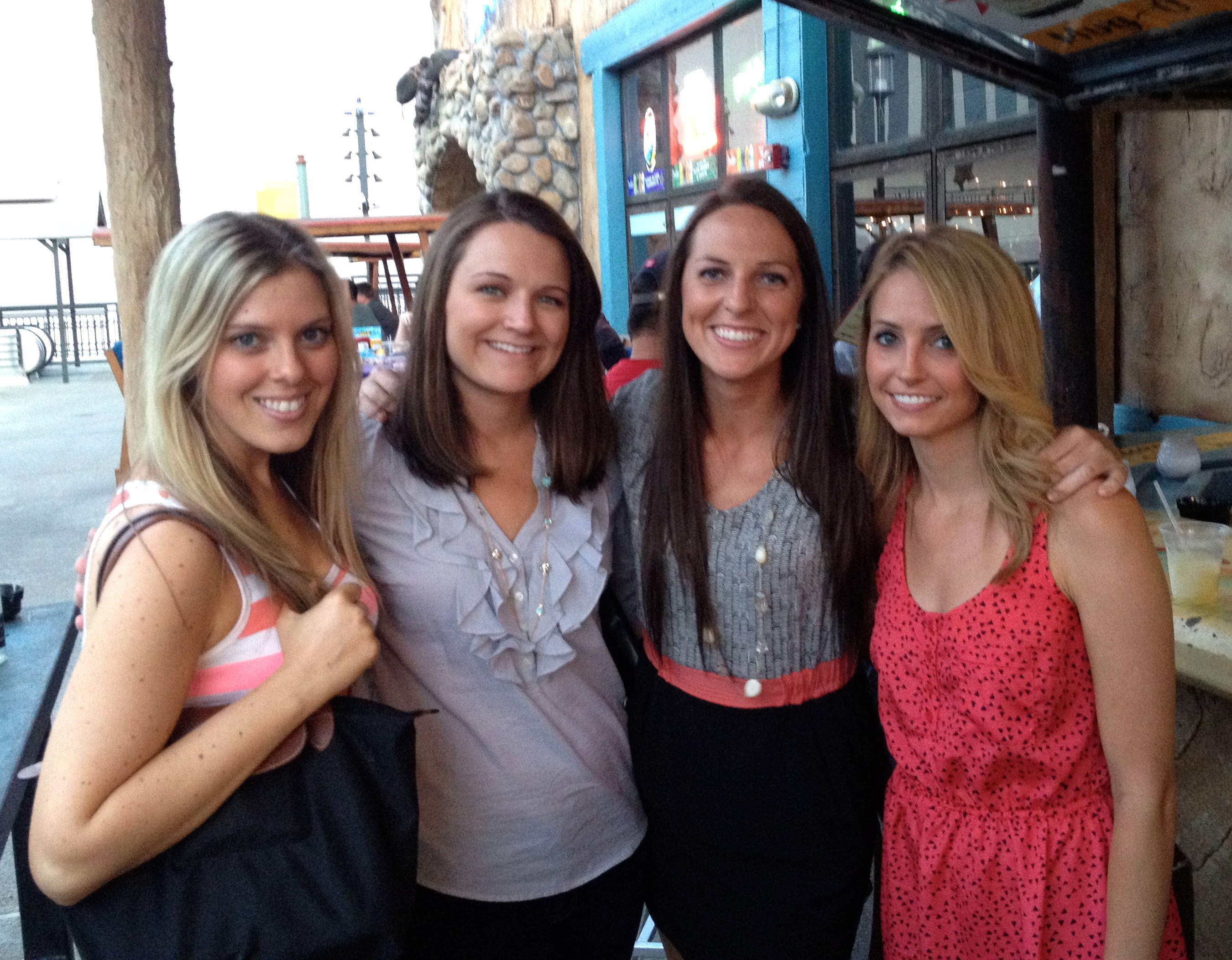 Girls at Adobe before comedy show