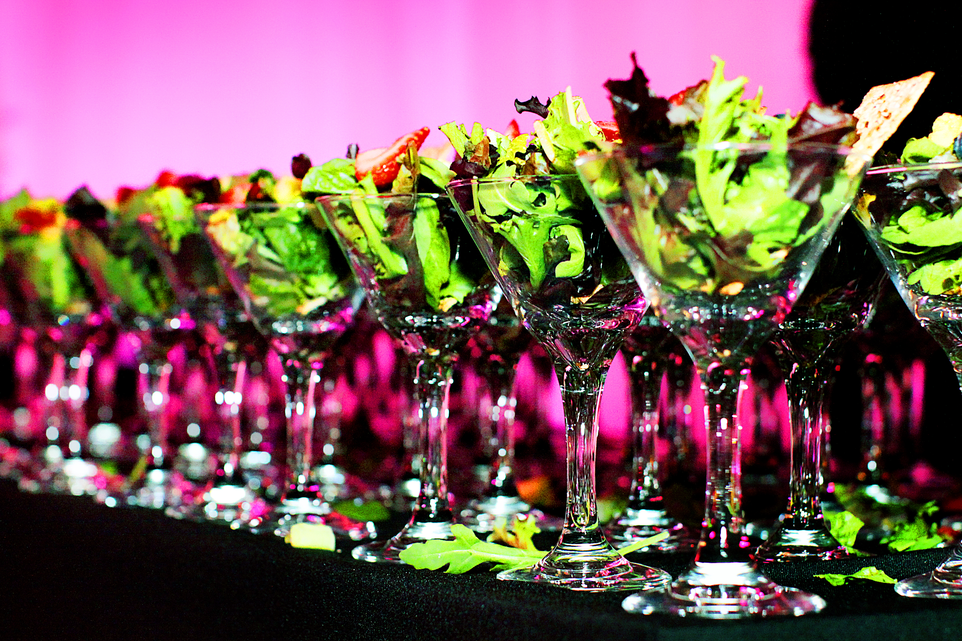 unique salad presentation at wedding