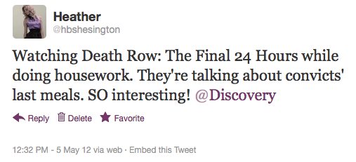 Discovery Channel Tweet