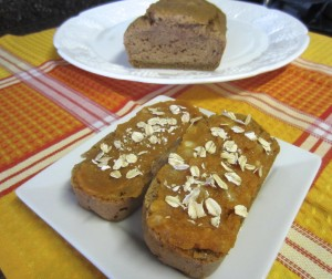 Banana Pumpkin Bread with toppings