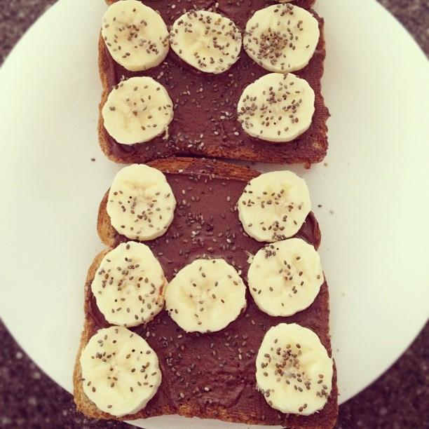 Chia seeds on toast