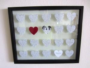 DIY wedding song lyrics picture frame
