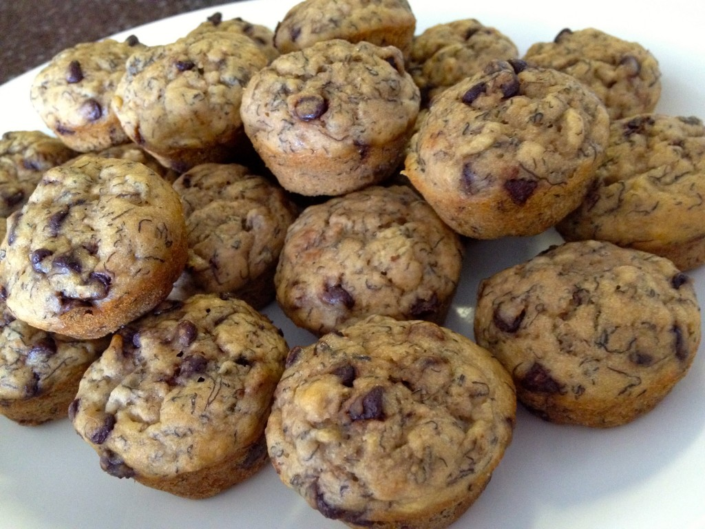 heatly chocolate chip banana mini muffins