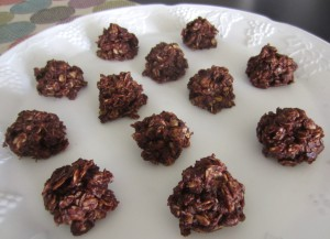 No Bake Chocolate Peanut Butter Oat Clusters