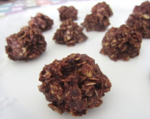 No Bake Chocolate Oat Clusters