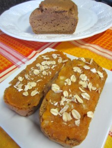 Pumpkin Banana Bread topped in pumpkin banana oats