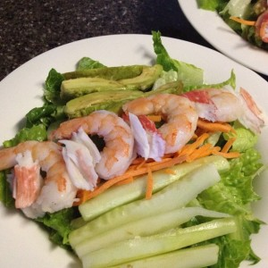 Seafood Salad with shrimp and crab