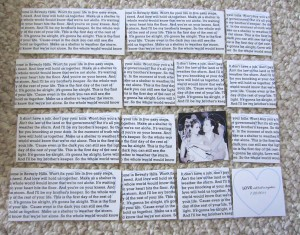 Wedding Song Lyrics for picture gift