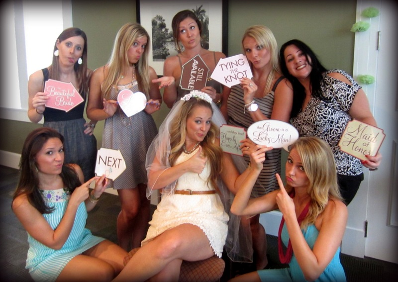 cute funny bridal shower group photo