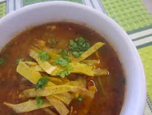 Light and Spicy Chicken Tortilla Soup
