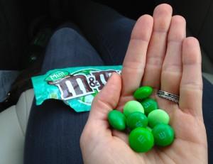 Mint Chocolate M&Ms