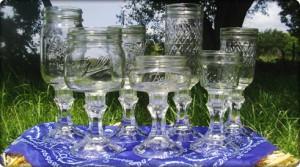 Redneck Wine Drinking Glasses