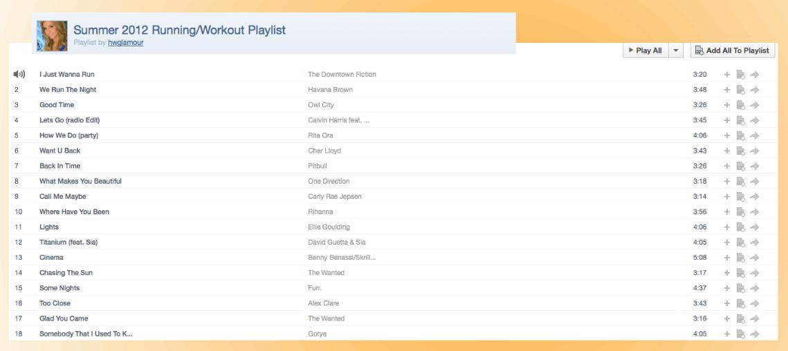 Summer 2012 Running: Workout Playlist