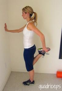 warm up stretch quadriceps