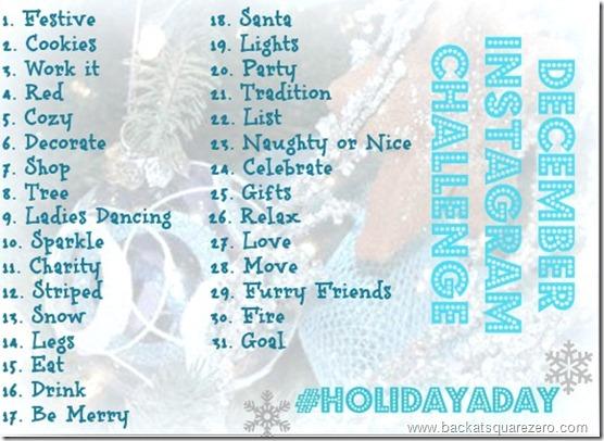 Holidayaday Photo Challenge