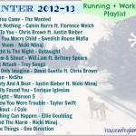 Winter Workout Playlist 2012-13