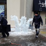 carving ice sculptures