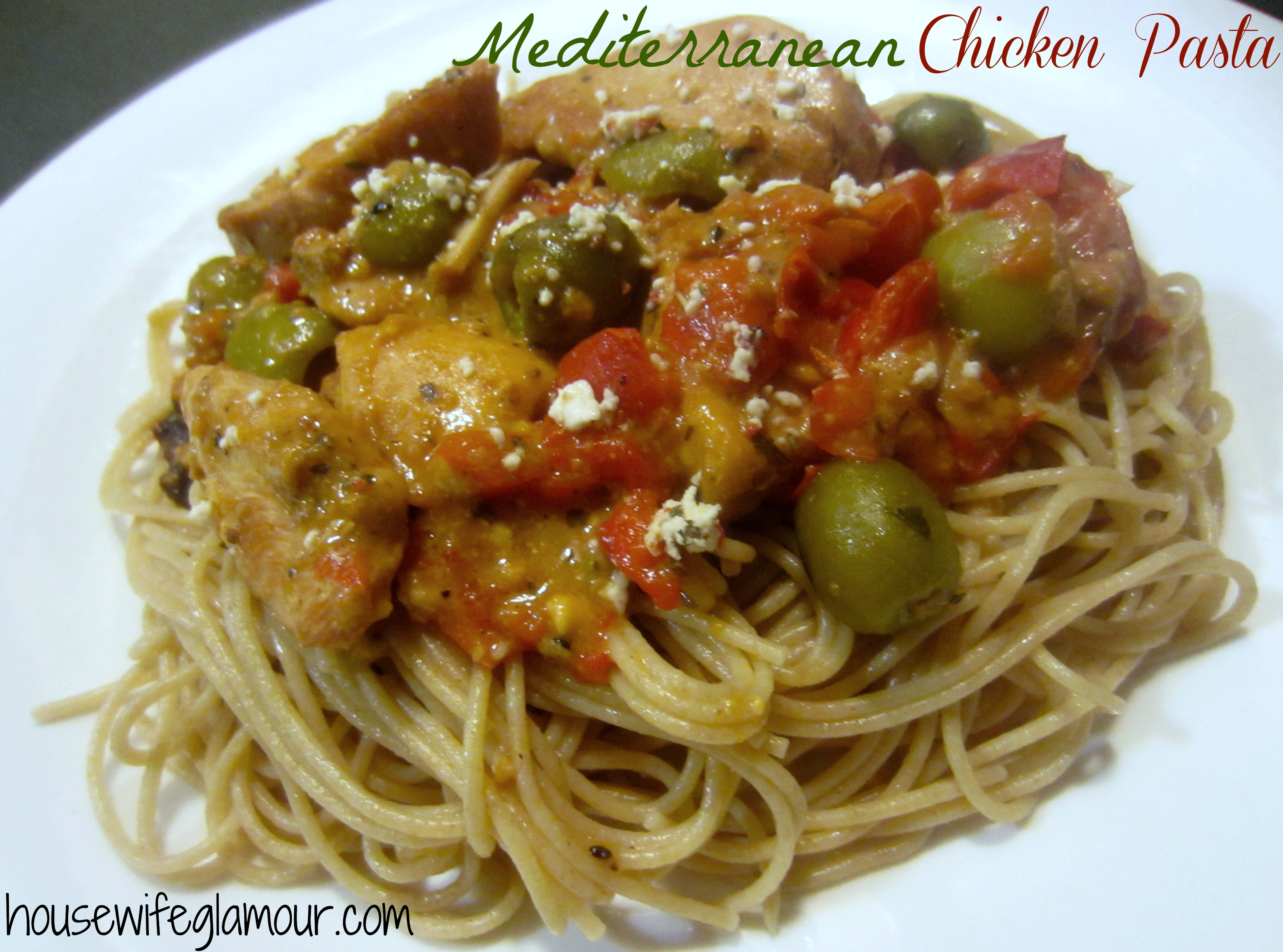 mediterranean chicken pasta cover