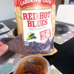 blue corn chips and salsa