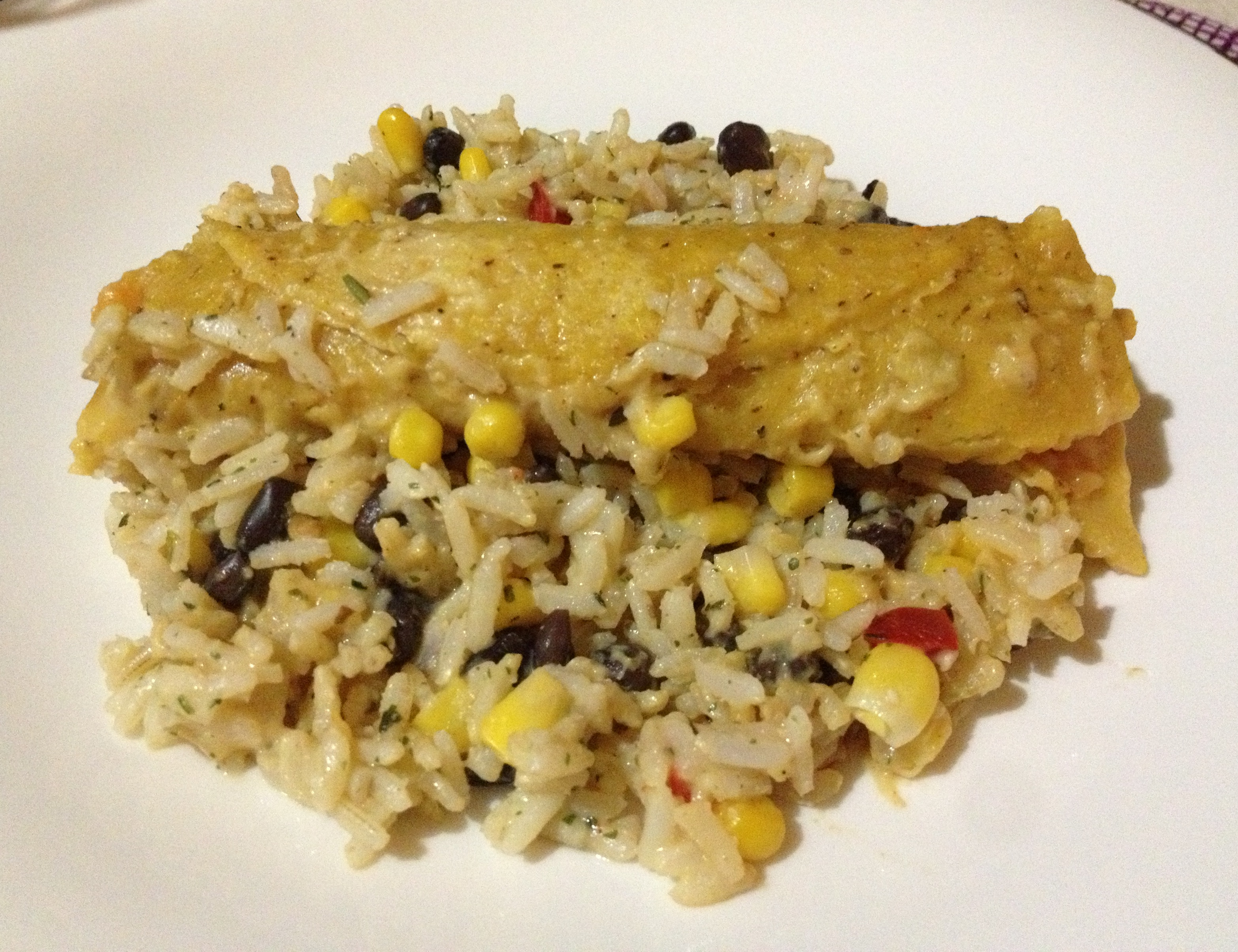 Baked healthy choice enchilada