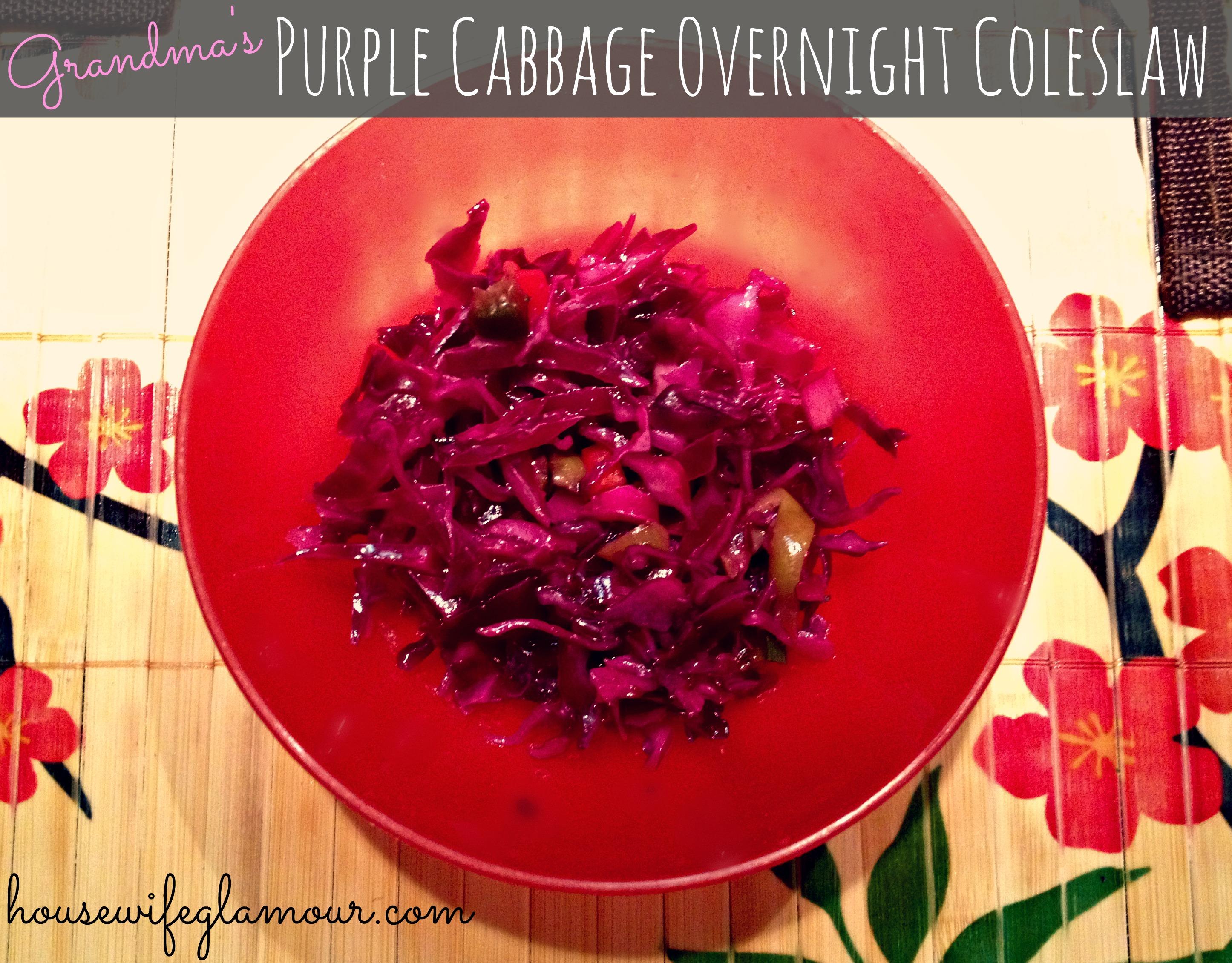 Grandma's Purple Cabbage Overnight Coleslaw