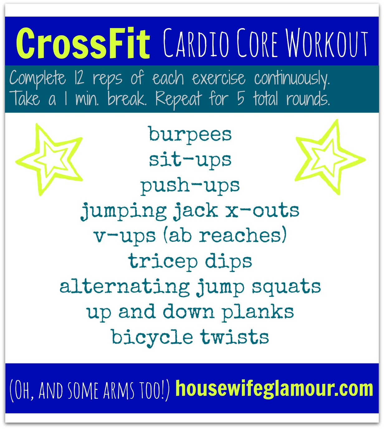 CrossFit Cardio Core Workout