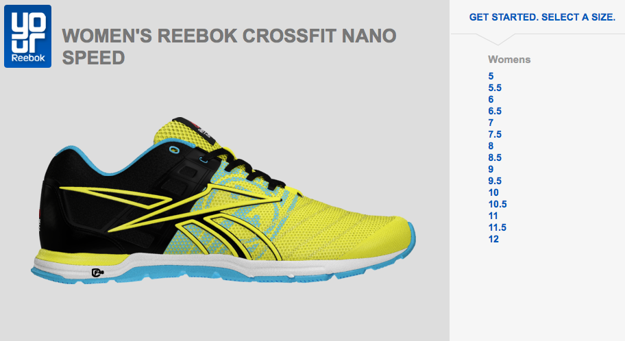 Customize your own Reebok shoe
