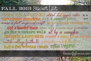 Fall 2013 Bucket List