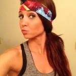 Voilet Love headband fun print
