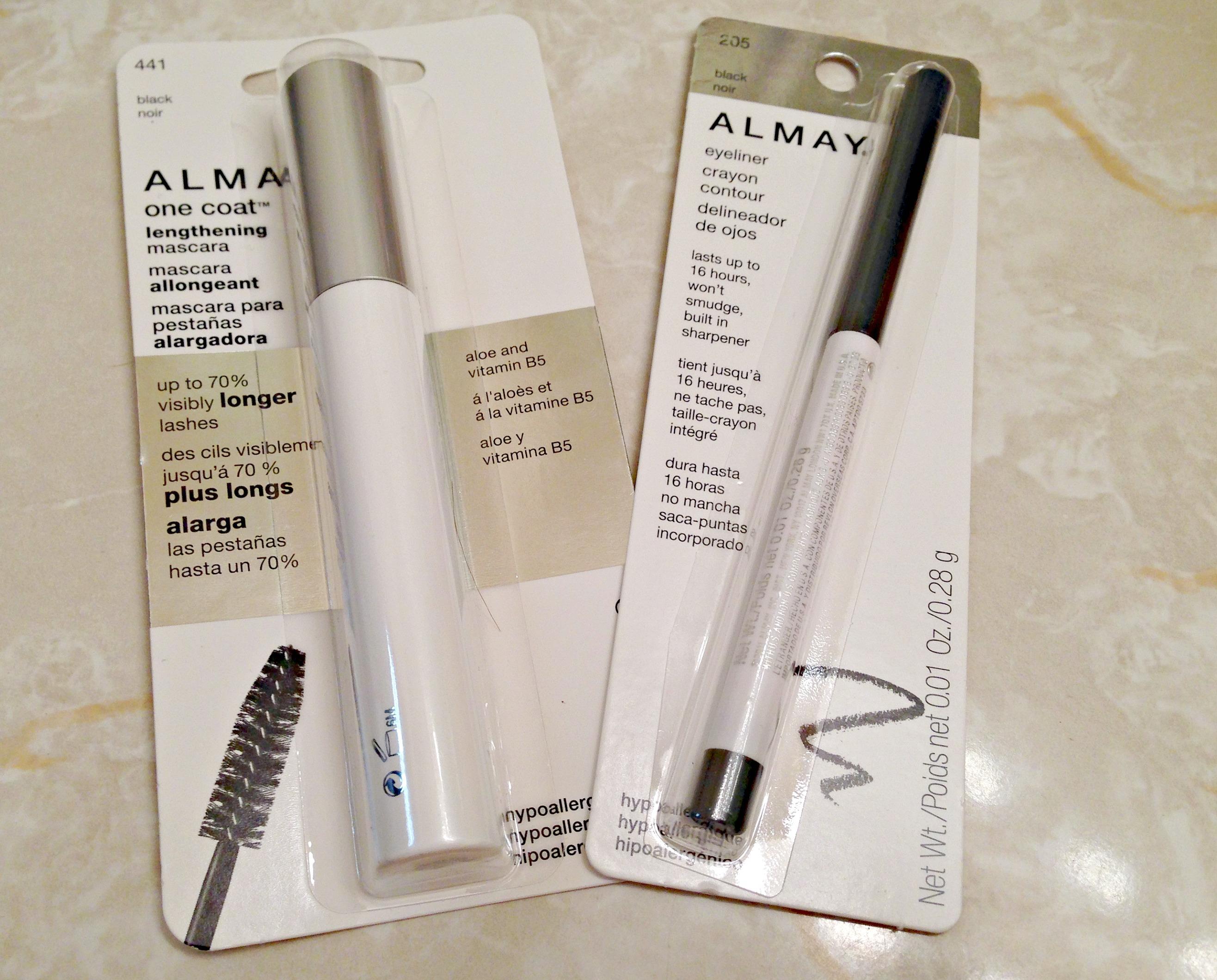 Almay eyeliner and mascara