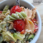 Light + Healthy Vegetable Pasta Salad