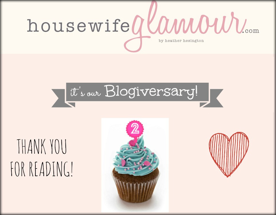 Housewife Glamour Happy 2nd Blogiversary