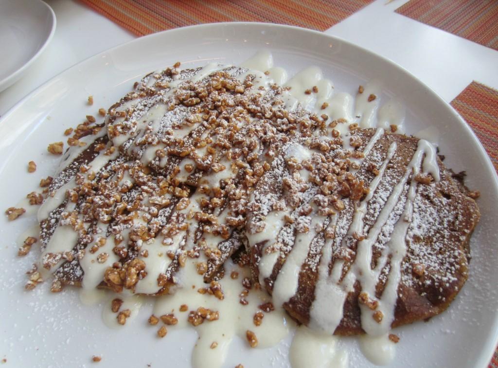 Pumpkin Pancakes with real pumpkin puree, chocolate chunks, cream ...
