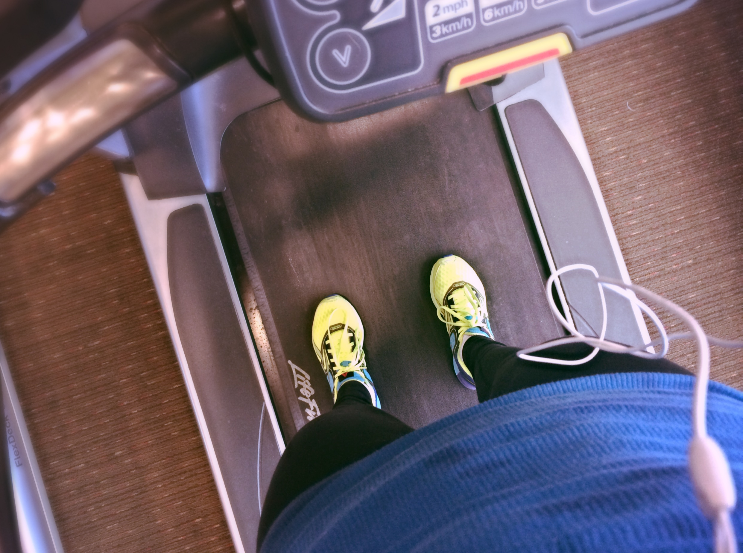 HIIT treadmill workout sneakers