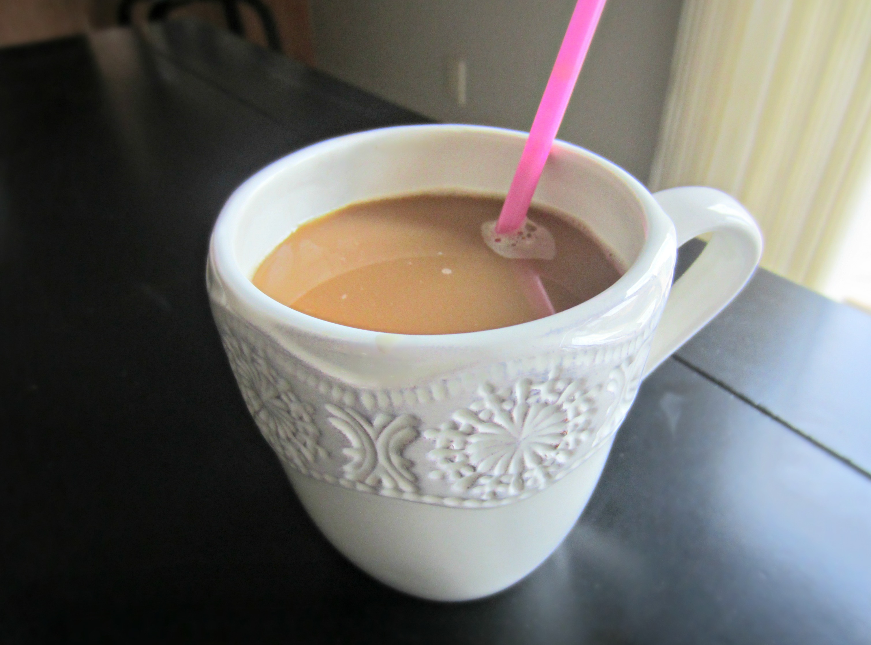coffee through a straw