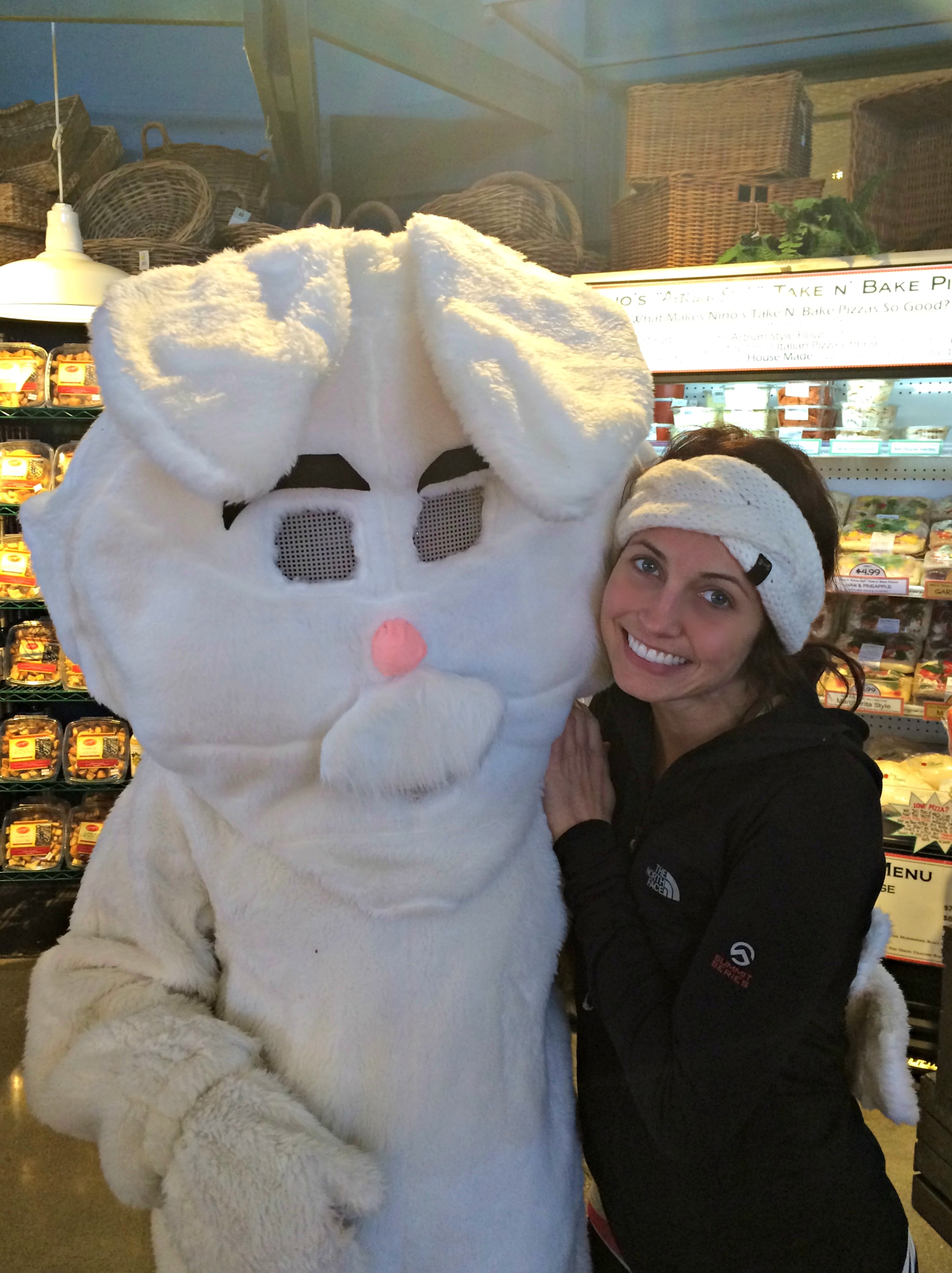 Easter Bunny at grocery store