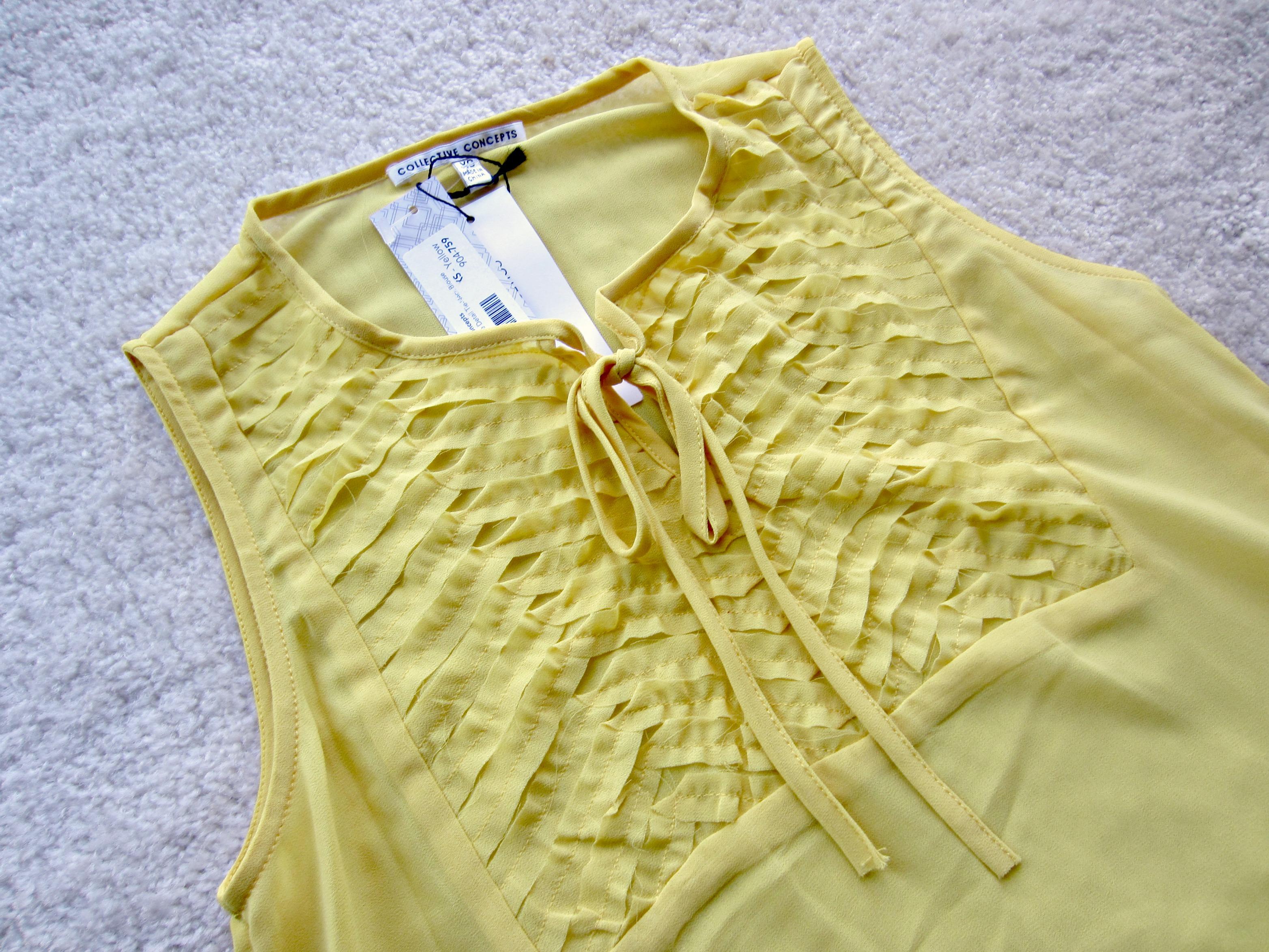 stitch fix collective concepts niko texture detail tie-neck blouse