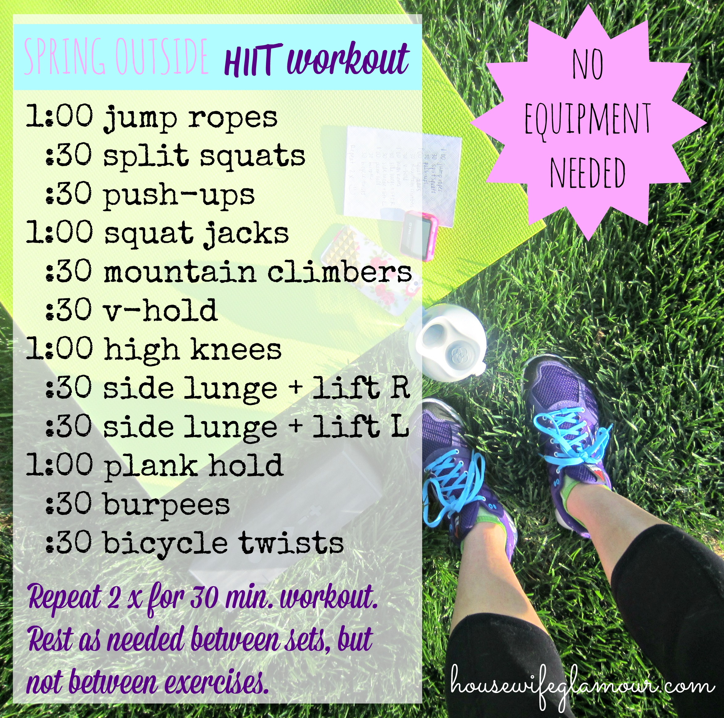 Spring HIIT Outside Workout