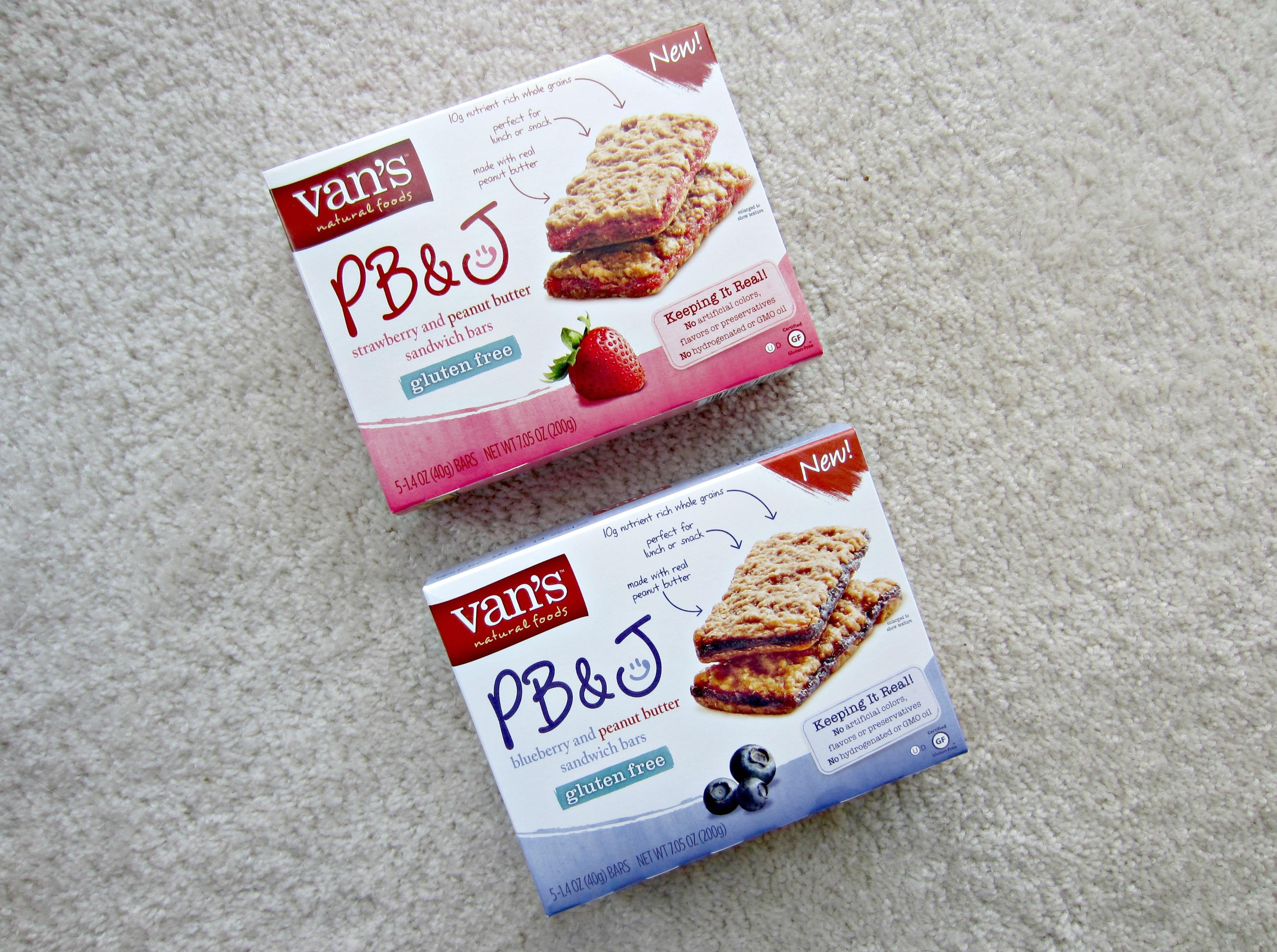 Van's PB&J gluten free sandwich bars